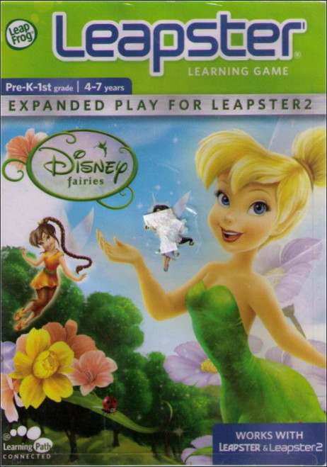 Disney Fairies Tinkerbell LeapFrog Leapster Learning Kids Game