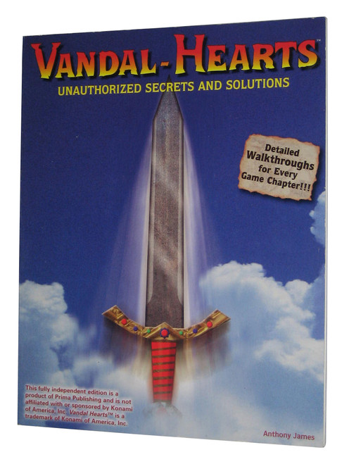 Vandal Hearts Unauthorized Secrets & Solutions Strategy Guide Book
