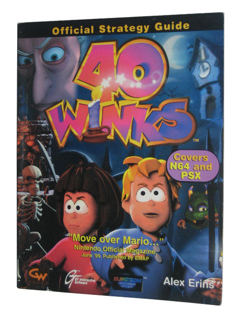 40 Winks Nintendo 64 & PlayStation Official Strategy Guide Book
