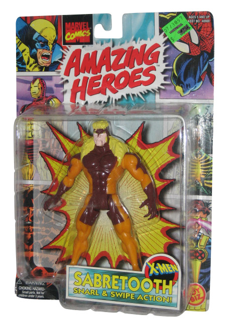 Marvel Amazing Heroes X-Men Sabretooth (1997) Toy Biz Figure w/ Snarl & Swipe Action