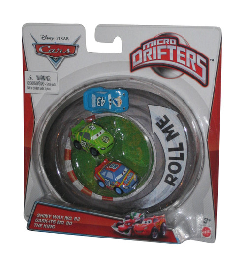Disney Pixar Cars Movie Micro Drifters Toy Car Set - (The King / Shiny Wax No. 82 / Gask-Its No. 80)