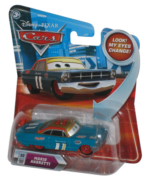 Disney Movie Cars Lenticular Eyes Change Mario Andretti Die Cast Toy Car #22