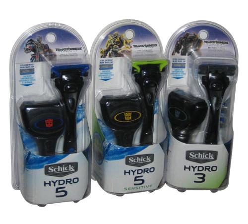 Transformers Shick Hydro Razor Set - (Bumblebee / Optimus Prime / Megatron)