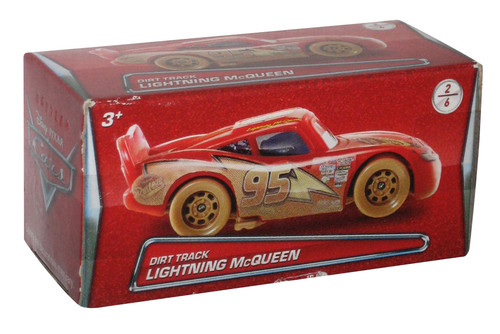 Disney Cars Movie Dirt Track Lightning McQueen Boxed Toy Car