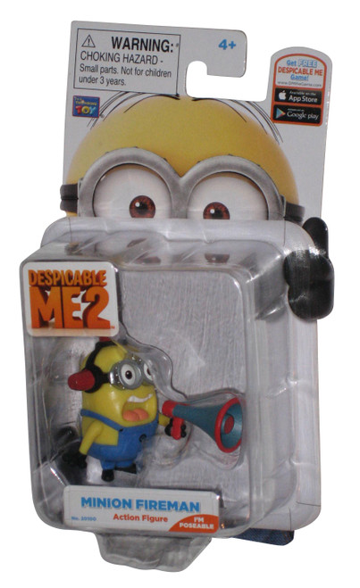 Despicable Me 2 Movie Fireman Thinkway Toys Action Figure w/ Bullhorn