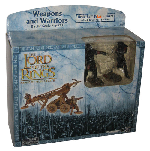 Lord of The Rings Weapons & Warriors Uruk-Hai Seige Ballista Soldiers Figure Set