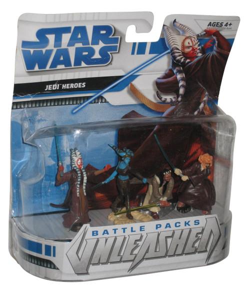 Star Wars Battle Packs Unleashed Jedi Heroes Figure Set - (Shaak Ti / Plo Koon / Agen Kolar / Aayla Secura)