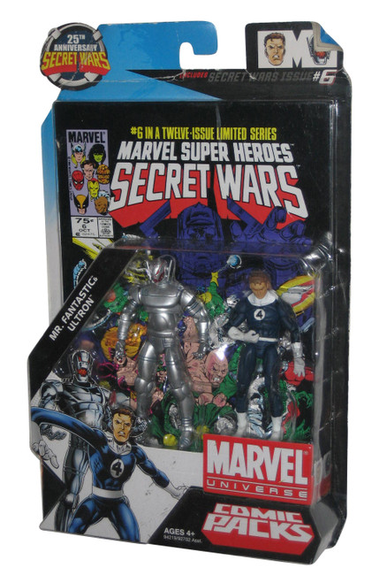Marvel Universe Mr. Fantastic & Ultron Comic Pack Figure Set - (Super Heroes Secret Wars)