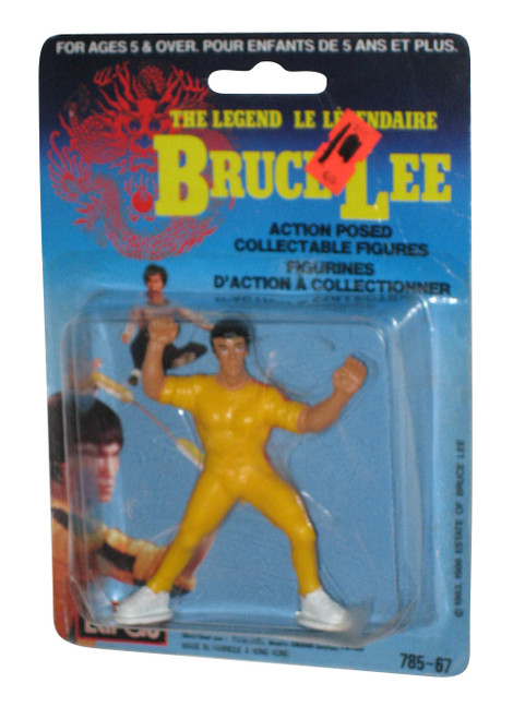 Bruce Lee The Legend Yellow Jumpsuit LarGo 3 Inch Action Posed Figure