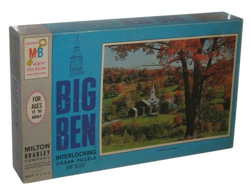 Big Ben Autumn In Vermont 1000pc Jigsaw Milton Bradley Puzzle - (26 x 20 inches)