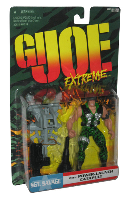 GI Joe Extreme SGT Savage Action Figure w/ Power-Launch Catapult Action