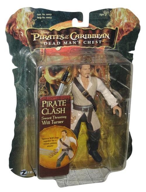 Pirates of The Carribean II Will Turner Pirate Battler Zizzle 7-Inch Figure