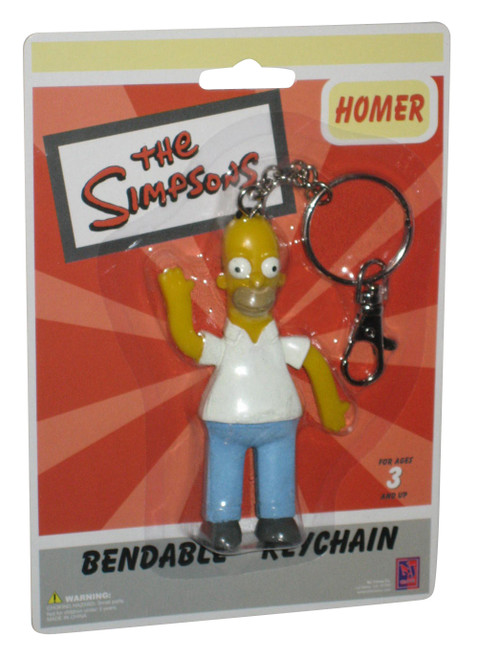 The Simpsons Homer NJ Croce Bendable Keychain