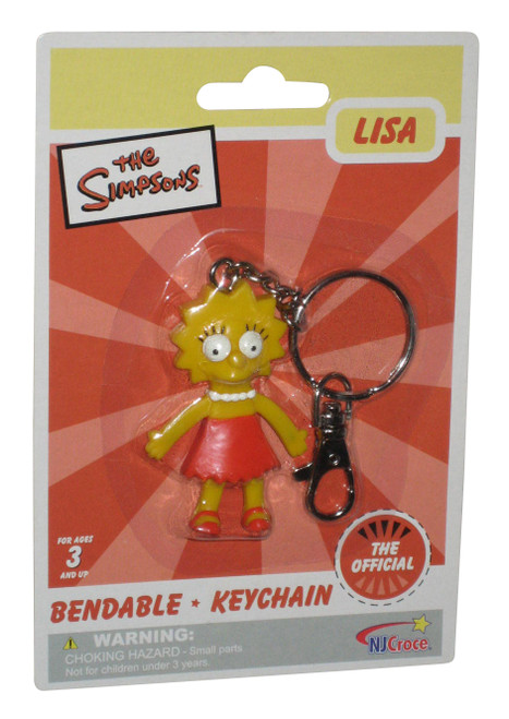 The Simpsons Lisa NJ Croce Bendable Keychain