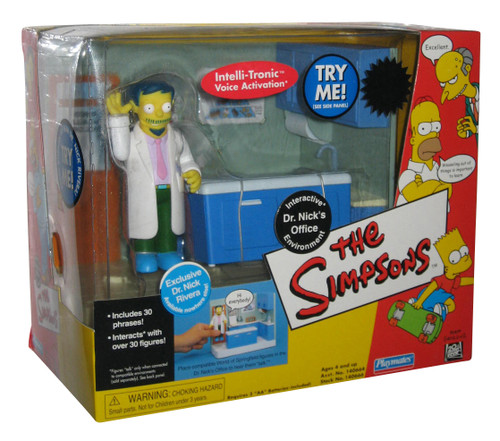 Simpsons Dr. Nick's Office Interactive Environment Toy Playset