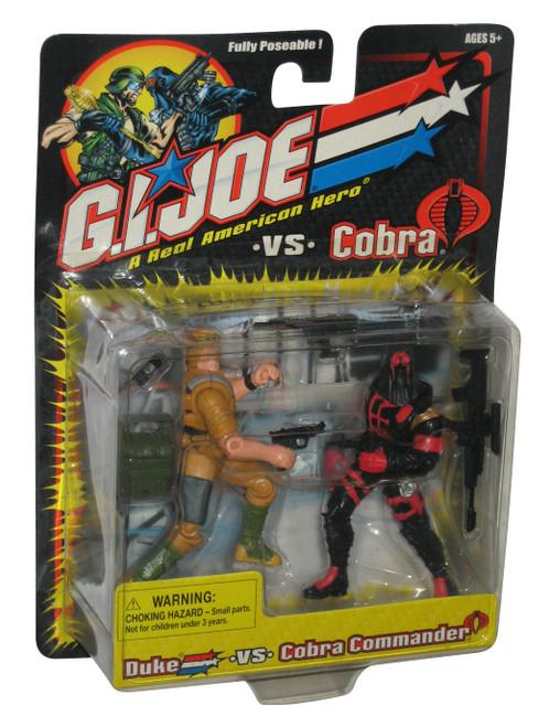 GI Joe Vs. Cobra Duke vs Cobra Commander (Black Outfit) Action Figure