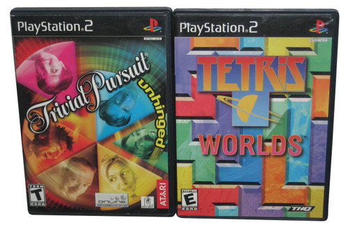 PlayStation 2 Video Game Lot - (Trivial Pusuit / Tetris Worlds)