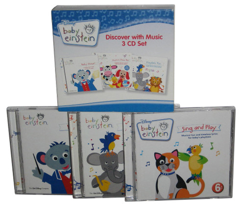 Disney Baby Einstein Discover with Music 3CD Box Set - (56 Songs)