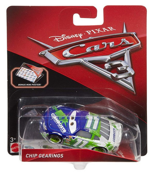 Disney Pixar Cars 3 Movie Chip Gearings Mattel Die-Cast Toy Car