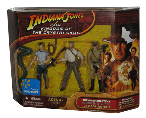 Indiana Jones And Kingdom of The Crystal Skull Figure Set #2 - (Commemorative DVD Collection)