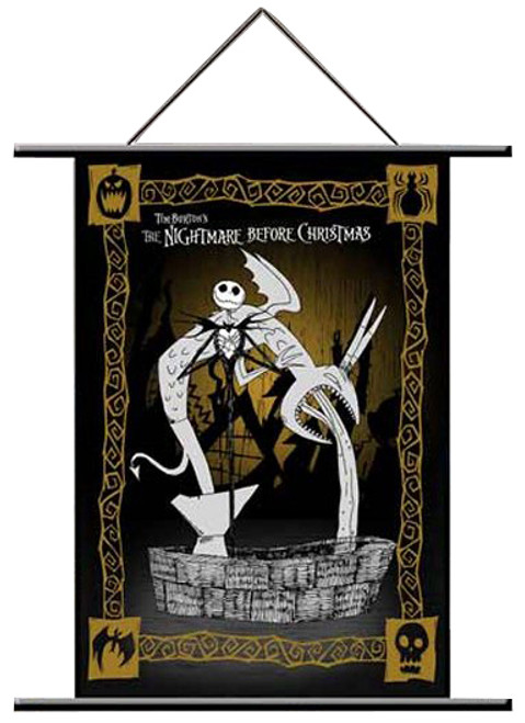 Nightmare Before Christmas Jack & Fountain Neca Wall Scroll Poster