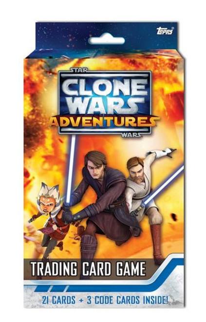 Star Wars Clone Wars Adventures Topps Trading Card Game Starter Deck