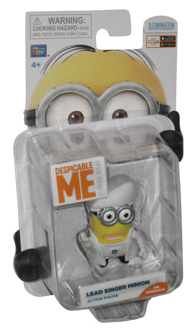 Despicable Me 2 Lead Singer Minion Thinkway Toys Action Figure