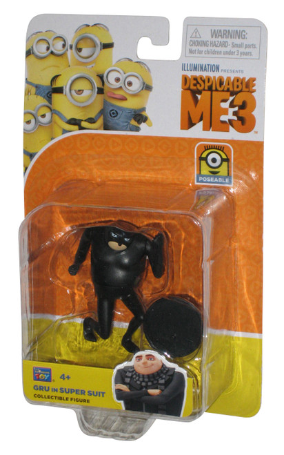 Despicable Me 3 Minions Gru In Black Super Suit Thinkway Toys Action Figure