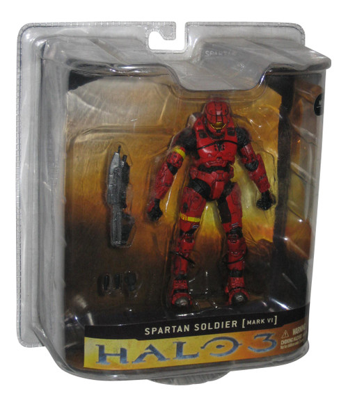 Halo 3 Spartan Soldier Mark VI Armor (Red) McFarlane Toys Series 1 Figure