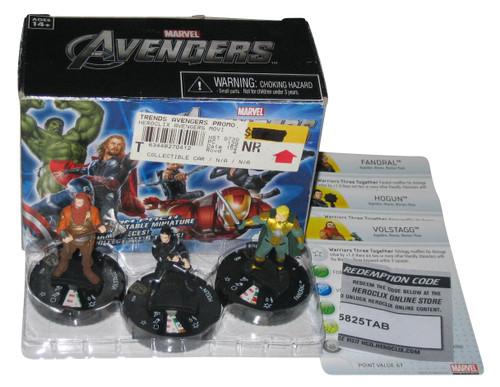 Marvel The Avengers Heroclix Volstagg Hogun & Dandral Mini Figure Set