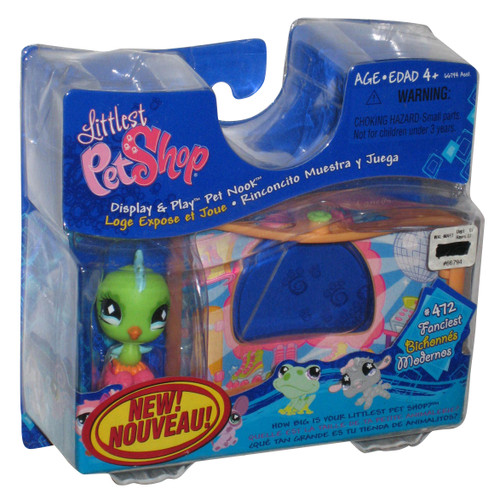 Littlest Pet Shop Bird Sassy Skate Toy Figure w/ Stackable Nook #472