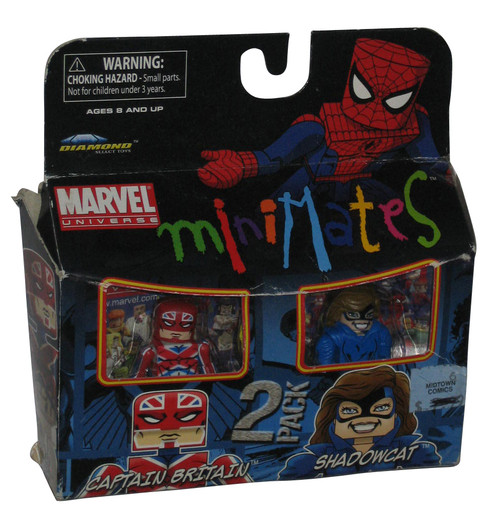 Marvel Minimates Captain Britain & Shadowcat Classic Costume Figure Set