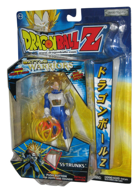 Dragon Ball Z Battle Warriors Power Up & Real Lights SS Trunks Metallic Figure
