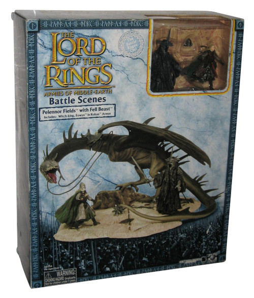 Lord of The Rings Battle Scenes Pelennor Fields with Fell Beast Figure Set