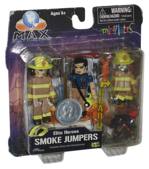 M.A.X. Elite Heroes Smoke Jumpers Minimate Figure Toy Set