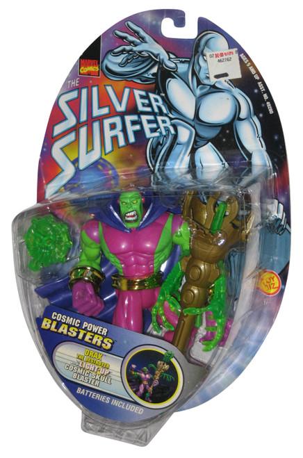Marvel Silver Surfer Drax Toy Biz Action Figure w/ Light Up Cosmic Skull Blaster