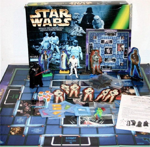 Star Wars Escape The Death Star Action Figure Parker Brothers Board Game