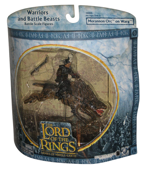 Lord of The Rings Warriors & Battle Beasts Morannon Orc On Warg Figure