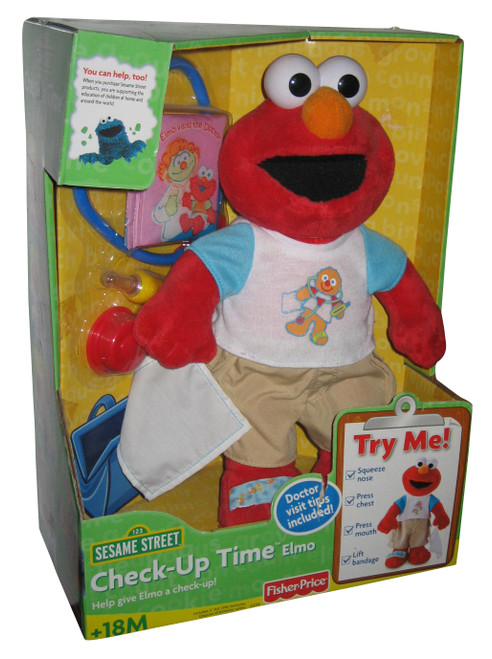 Sesame Street Check-Up Time Elmo Sound Effects Toy Plush