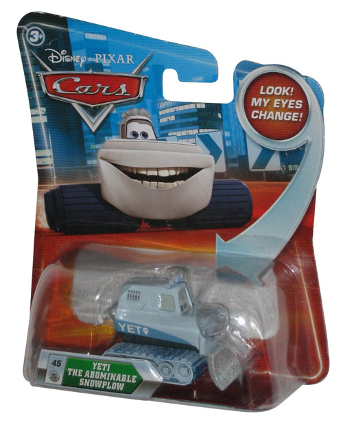 Disney Cars Lenticular Eyes Change Yeti Abominable Snowplow Toy Car #45