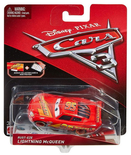 Disney Pixar Cars 3 Movie Rust-Eze Lightning McQueen Die Cast Toy Car