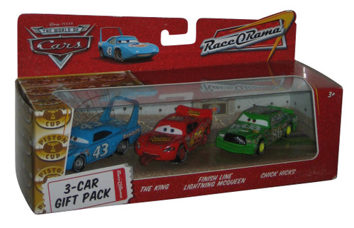 Disney Cars Race-O-Rama Gift Pack - (The King / Chick Hicks / Finish Line Lightning McQueen)