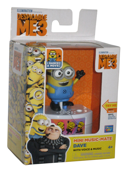 Despicable Me Music-Mate Dance & Move Minion Dave Toy Figure