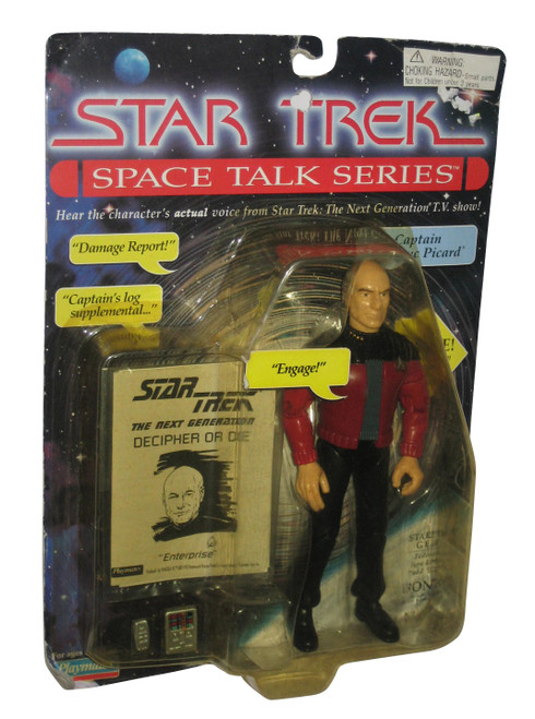 Star Trek Space Talk Series (1995) Captain Jean-Luc Picard Playmates Figure
