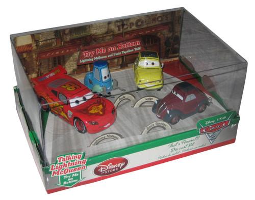 Disney Cars 2 Movie That's Amore Die-Cast Toy Car Set - (Guido / Luigi / Uncle Topolino / Lightning)