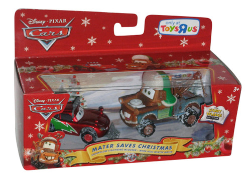 Disney Cars Mater Saves Christmas Story Tellers Set - (Snowplow Lightning McQueen / Whee-Hoo Winter Mater)