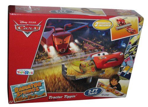 Disney Cars Movie Exclusive Playset Tractor Tippin Track Set w/ Plastic Frank & Lightning McQueen