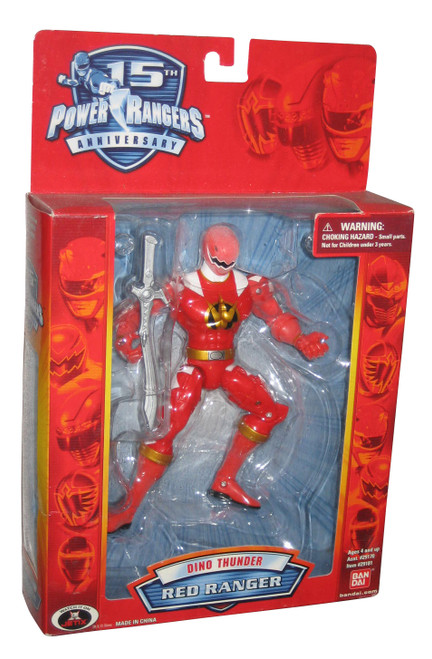 Power Rangers 15th Anniversary Dino Thunder Red Ranger (2007) Bandai Figure