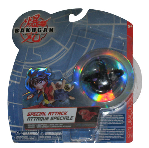 Bakugan Special Attack Spin Dragonoid (2008) Hydranoid Black Darkus Toy - (Missing Cards)