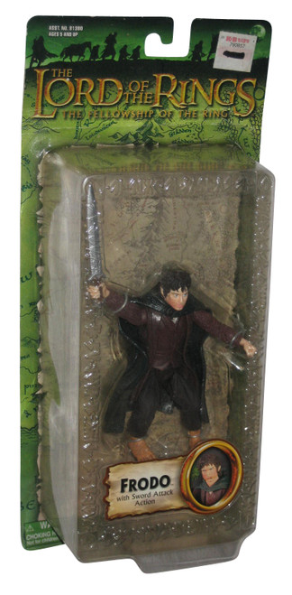 Lord of The Rings Fellowship Frodo Toy Biz Figure w/ Sword Attack Action